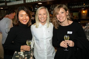 louise bibby with 2 other female boarding alumni