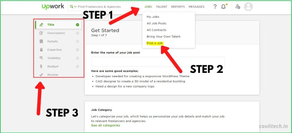 Job Posting Steps on Upwork