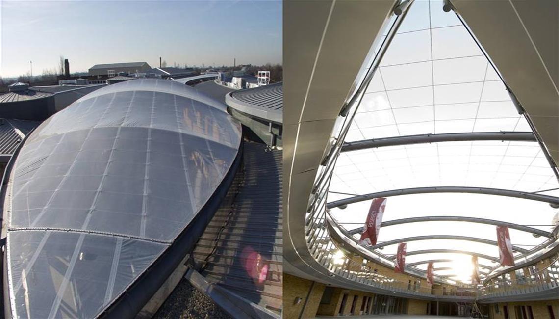 Caunton Engineering Ltd  ETFE Roof Structure at