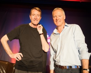 Lee Child and Rory Bremner, photo: Fenris Oswin