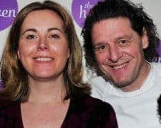 Founder of Cause UK, Clair Challenor-Chadwick with Marco Pierre White