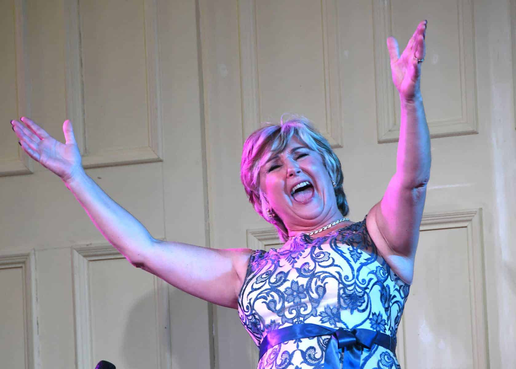 Lesley Garrett at the Wesley Centre, Malton. Picture by David Harrison.