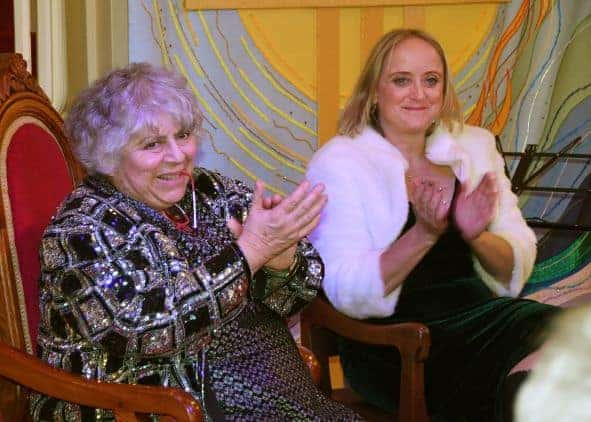 Miriam Margolyes and Lucinda Hawksley