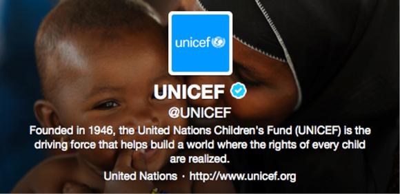 UNICEF Twitter Header