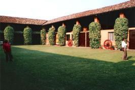 Villa Oltrona Visconti - Cortile Nobiliare e ascine a Sant'Antonino Ticino