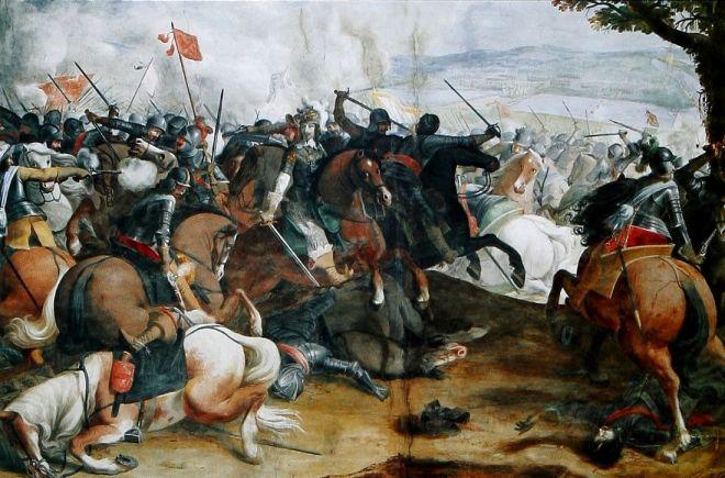 Affresco: La battaglia di Tornavento