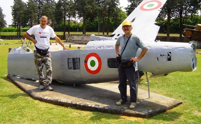 Recupero e ripristino cippo Aviatori della Brughiera e ripristino Fiat G59