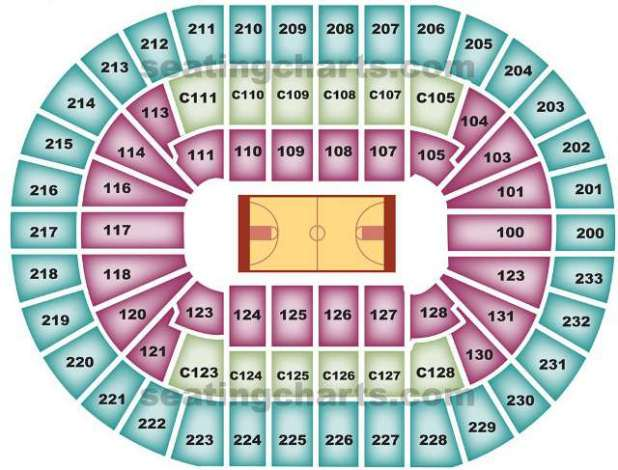 Seating Seat Cavs Chart View