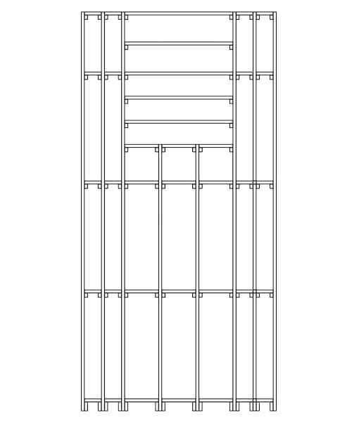 CaveauStar Weinregal CS-Basic-10 - Technische Skizze