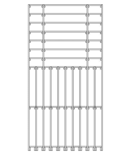 CaveauStar Weinregal CS-Basic-14 - Technische Skizze