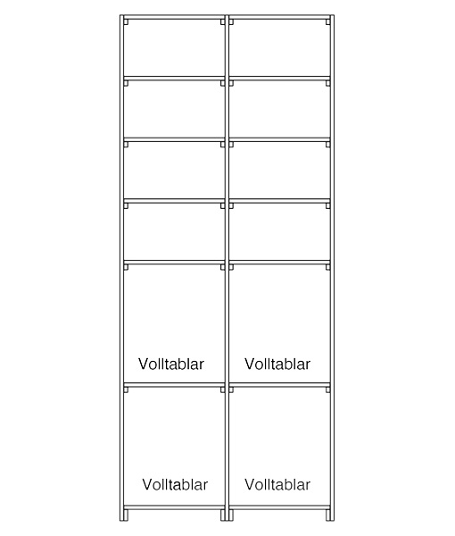 CaveauStar Weinregal CS-Basic-16 - Technische Skizze