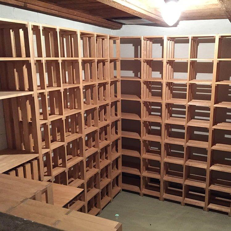 weinregale aus holz latest weinregal weinregal holz fr. Black Bedroom Furniture Sets. Home Design Ideas