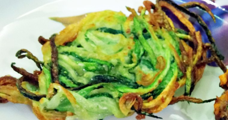 Zoodle Shoestring Nests, Baked or Fried