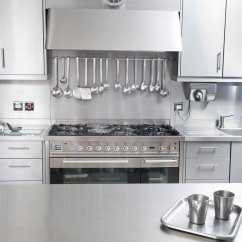 Stainless Kitchen Steel Trash Can Cabinet Worktops Splash Backs Uk Cavendish Equipment