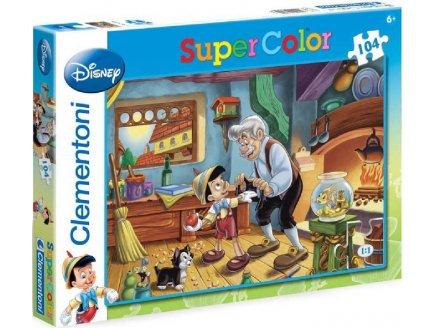 Clementoni 27858 puzzle 104 pièces Pinocchio Gepetto Jimmy