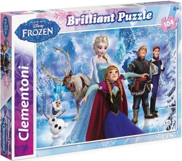 Clementoni 20127 puzzle 104 pièces la reine des neiges