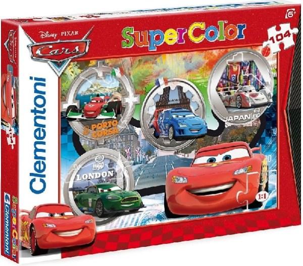 Clementoni 27857 puzzle 104 pièces voiture caes raoul et