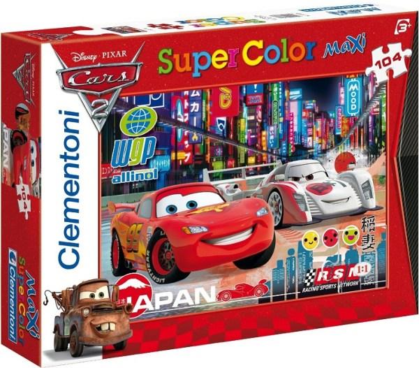 Clementoni 23623 puzzle enfant Maxi color 104 pièces Cars