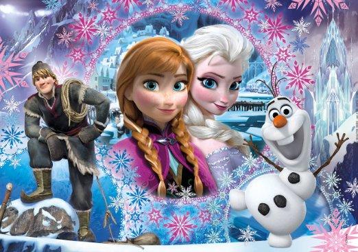 Clementoni 27248 Puzzle glitter 104 pièces la reine des neiges