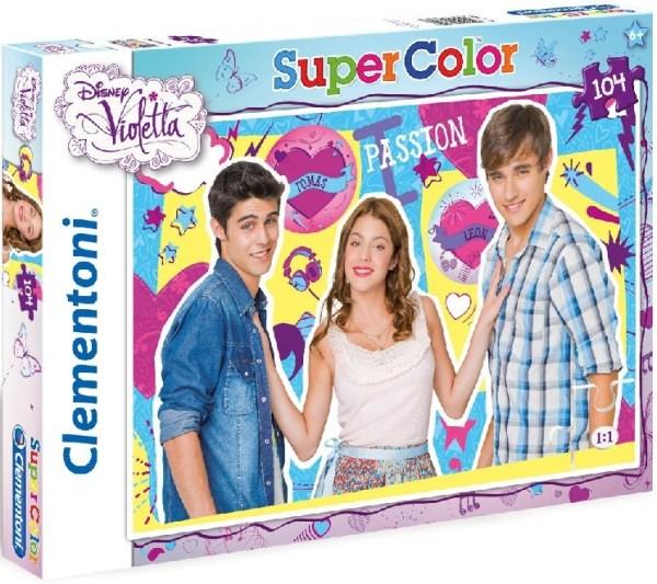 Clementoni 27891 puzzle 104 pièces disney violetta tomas