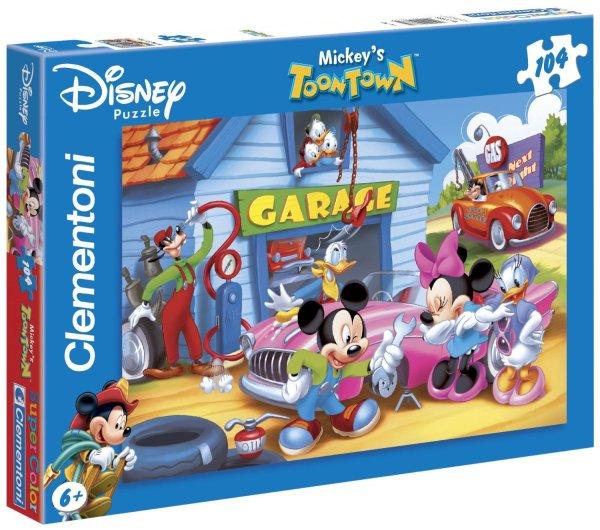 Clementoni 27633 puzzle enfant 104 le garage de mickey