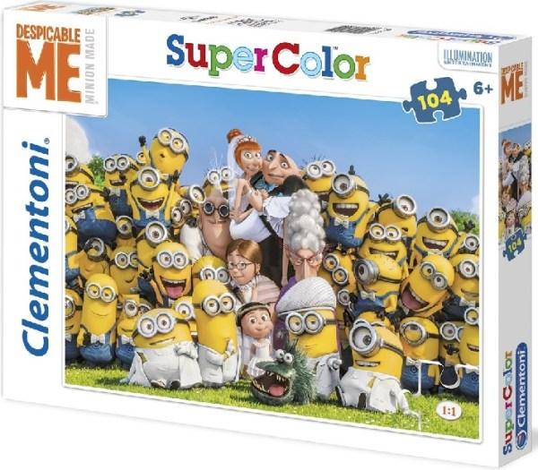 Clementoni 27905 puzzle enfant 104 pièces les minions