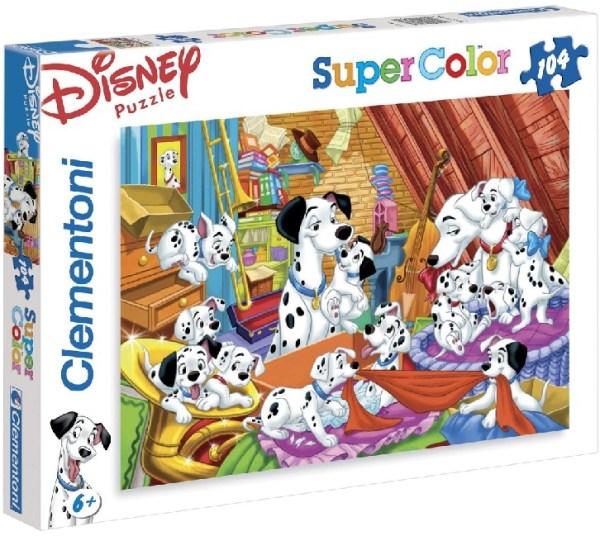 Clementoni 27478 puzzle enfant 104 pièces 101 Dalmatiens chien