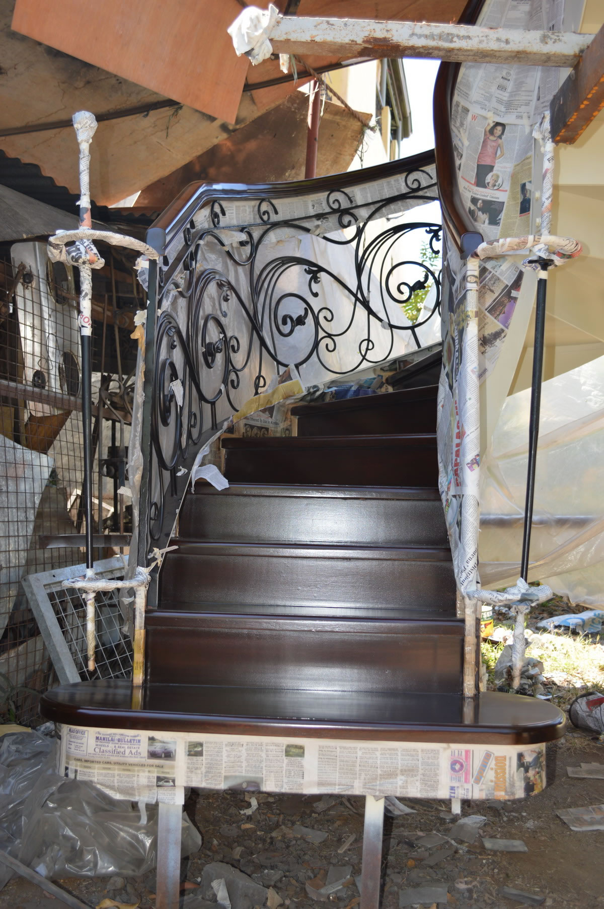 Spiral Stair  Cavitetrail Glass Railings Philippines Tempered Glass Wrought Iron Railings