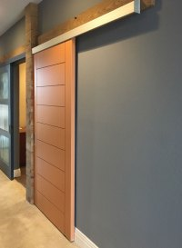 Wall mounted sliding door track