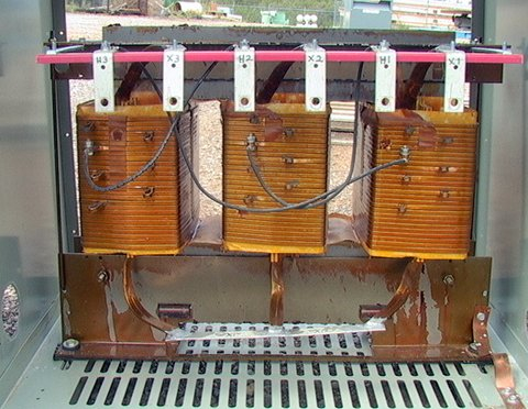 75 kva ge transformer 480 -208/120 delta-wye 3-phase with