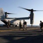 U.S. Marines utilizam as aeronaves Osprey pela primeira vez em missões humanitárias no Haiti