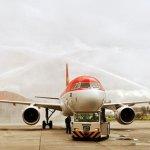 A chegada do Airbus A319 da OceanAir em Congonhas