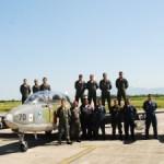Aeronave Xavante participa pela última vez da Reunião da Aviação de Caça