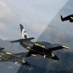 VÍDEO: Jetman voa em formação com o Breitling Jet Team