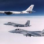 Caças F-15 partem para interceptar dois bombardeiros russos Tu-95 que voavam ao redor de Guam