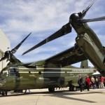 Esquadrão HMX-1 dos Fuzileiros Navais dos EUA recebe o primeiro MV-22 Osprey