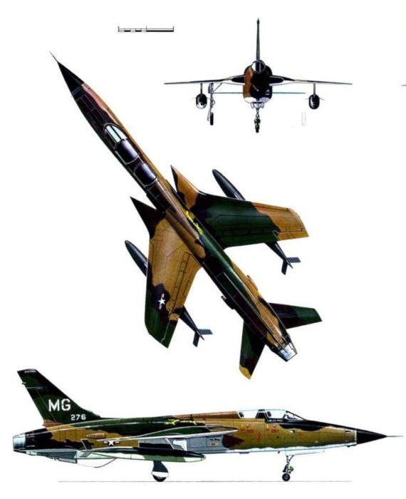 F 105 5 570x700 - CAÇAS CENTURY: Republic F-105 Thunderchief