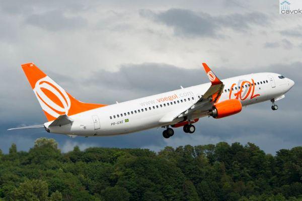 O 80° Boeing 737 entregue para GOL Linhas Aéreas Inteligentes, prefixo PR-GXE. (Foto: Boeing)