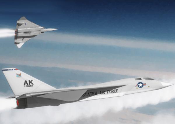O medo dos bombardeiros soviéticos de longo alcance, que não existiam, levou os EUA a buscar soluções no campo da interceptação aérea. Grande parte da tecnologia desenvolvida foi usada no YF-12, XB-70 e F-14 e ainda é a base da tecnologia atual. Notar que o A-5 vigilante herdou uma grande semelhança. (Imagem: coleção particular)