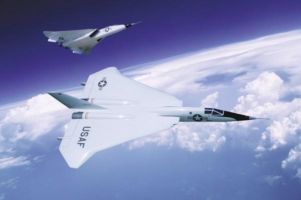 F-108 Rapier. concebido para defender o território dos EUA contra a ameaça dos bombardeiros de longo alcance soviéticos. (Concepção artística: Erik Simonsen)