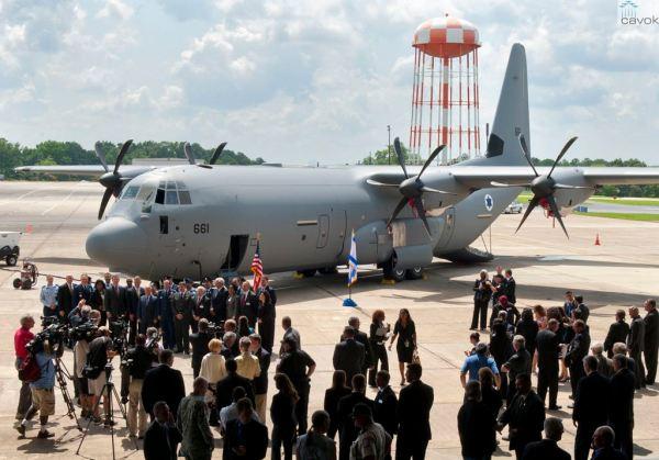 O primeiro C-130J Super Hercules da Força Aérea de Israel. (Foto: Lockheed Martin)
