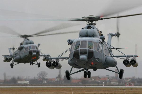 Dois helicópteros Mil Mi-17 (Sh). (Foto: Boran Pivcic / CroSpotter Team)