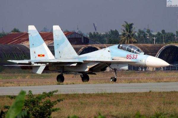 Um dos 20 caças Su-30MK2 da Força Aérea do Vietnã.