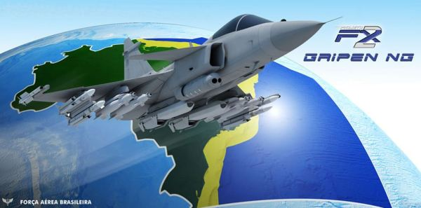 Ilustração produzida pelo CECOMSAER para divulgar a aquisição do Gripen.