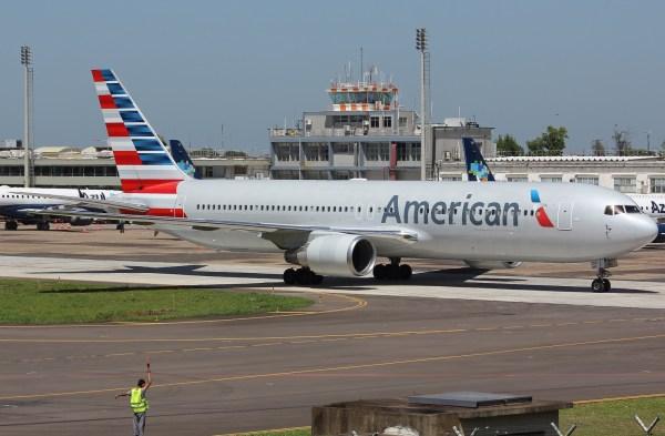 Boeing 767 da American Airlines foi alvo de criticas do prefeito de Porto Alegre/RS (Imagem: PlanespottersNet)