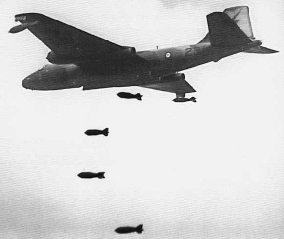 RAAF Canberra in action, Vietnam