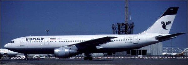 Voo 655, um avião de passageiros da Iran Air semelhante a este A300B2 foi abatido pelo USS Vincennes, um cruzador da Marinha dos EUA, matando todos os 290 passageiros e tripulantes.