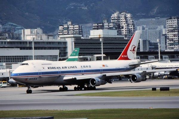 Boeing 747 da Korean Airlines, prefixo HL7442, abatido pelos soviéticos em 1º de setembro de 1983.