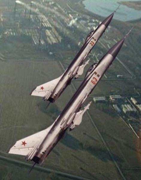 """Su-15TM da PVO (Forças de Defesa Aérea Soviética), que era um """"braço"""" a parte da VVS."""