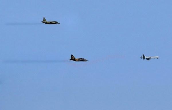 Su-25 vs drone